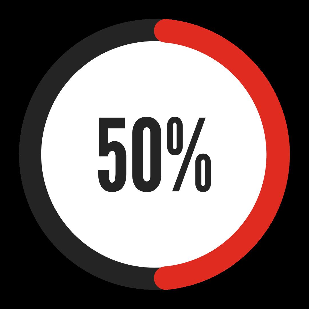 icon 50 % (chiffre sport en entreprise)